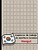 Cuaderno de trabajo de escritura coreano Hangul: Libro de ejercicios de práctica de escritura en...