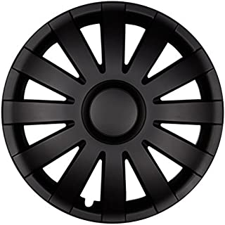 PREMIUM Radkappen Radzierblenden Radblenden 'Modell: Agat' 4er Set, Farbe: Schwarz Matt, Felgendurchmesser:15 Zoll