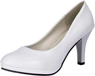 dc6a76aa Zapatos de Vestir de Material Sintético para Mujer Zapatos con Tacon Alto  para Mujer Plataforma para
