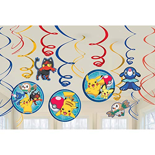 amscan 671859 Swirl Pokémon Core Set de décoration