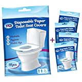 Disposable Toilet Seat Covers Flushable Paper Travel Pack (50-Count)...