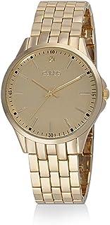 ساعة يد رجالية من زايروس ، انالوج بعقارب ، سوار معدني ، ذهبي ، ZY193M010133