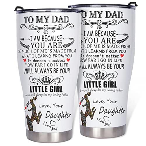Botella para el padre de la hija, taza aislada – Taza de viaje con revestimiento de polvo duradero para bebidas calientes, White2 900 ml