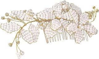 Lurrose Wedding Hair Comb Floral Rhinestone Side Comb Barrette Flower Clip Head Pieces Hair Pins Headwearfor Bridesmaid Bride