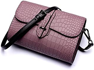 Leather 2018 New Women's Shoulder Wallet Leather Clutch Wallet Shoulder Wallet Handbag Wallet Waterproof (Color : Pink, Size : M)