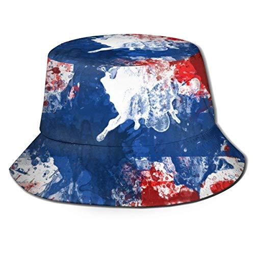YoungbG Hüte Sommer Atmungsaktiver Eimer Hut Norwegen Flagge Metallic