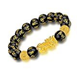 braccialetto feng shui ossidiana nera, bracciale feng shui per donna