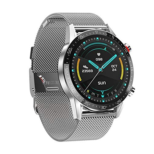 JXFF L13 Smart Watch Hombres ECG + PPG Impermeable Bluetooth Llamada Presión Arterial Moda Pulsera Pulsera Fitness Smartwatch PK L7 Mujeres Android iOS,F