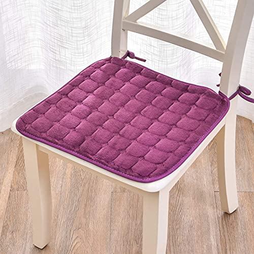 SFSGH Cojines para sillas de Comedor de Cocina de 3 Piezas con Lazos, cojín de Asiento Cuadrado para Interiores, Exteriores, Muebles de jardín, Patio, Almohadillas para sillas de ordenad