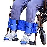Dr.Lefran Sicherheitsgurt-Rückhaltegurte für Rollstuhlbeine, verstellbar verhindern vorbeugender Rutschfester Gurt, einfach und sicher, gebundenes Wadenband mit Anti-Drop-Verschluss,Blue -