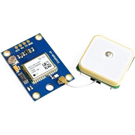 ICQUANZX Módulo de control de vuelo GPS GY-NEO6MV2 NEO-6M 3V-5V con antena de cerámica superfuerte para Arduino EEPROM APM 2.5