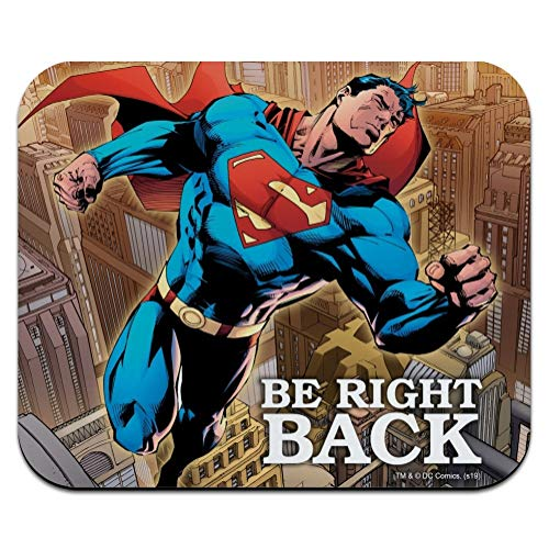 Superman Be Right Back Low Profile Thin Mouse Pad Mousepad