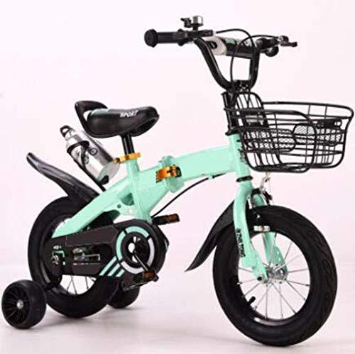 COUYY Kinderfahrrad mit Wasserflasche Hummer-Rad männlich und weibliches Baby Fahrradbalance Bike Kinderwagen 12...