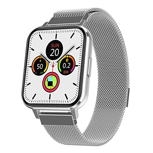 ZGNB DTX Men's Smart Watch Pantalla táctil Completa Rehon Hombre Hombre Smatch Band Montre Condetee Reloj SmartWatch Micro Fitness Tracker Reingrieging para Android iOS,D