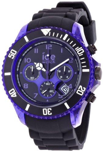Ice-Watch - ICE chrono electrik Black Purple - Men's wristwatch with silicon strap - Chrono - 000681 (Extra large)