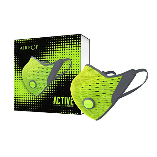 AirPOP ACTIVE 3D AIR-Knit Fabric PM 2.5 MASK 1 Mask+2 Filter (Yellow/Black)