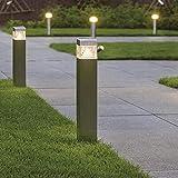 FactorLED Baliza de suelo LED 8W, Lámpara Exterior IP44, 60 cm, Poste cuadrado, Iluminación para Jardín, Porche, Camino, Piscina, Luz Natural 4000K [Clase de eficiencia energética A+]