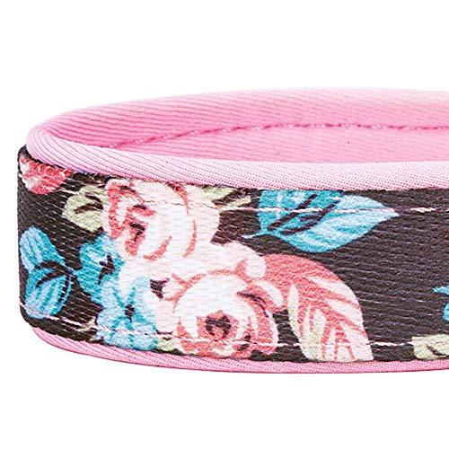 Blueberry Pet 1,5cm S Klein Frühlingsgru? Rosig Bedruckt Niedliches Neopren-Gepolstertes Hundehalsband - 5