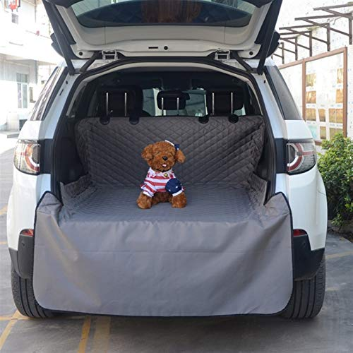 DIYHM Pet Carriers Dog Car Seat Cover Trunk Mat Cover Protector Carrying For Cats Dogs transportin Dogs and Armrest Fits Cars, Universal Size Fits fo (Color : Gray)