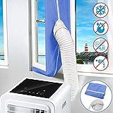 Yodeace Kit Ventana Aire Acondicionado Portatil, aire acondicionado Secadora de ventanas Sellado de ventanas Protectores de intercambio de aire con cierre adhesivo para ventanas de manivela abatible