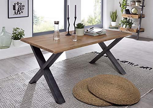 Main Möbel eettafel 200x90cm 'Buckley' acacia natuur geborsteld
