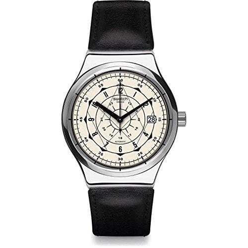 Swatch Reloj Digital para Hombre de Cuarzo con Correa en Cuero YIS402