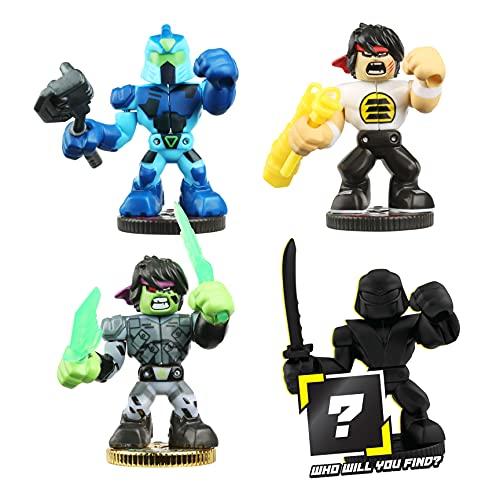 Akedo Ultimate Arcade Warrior Collector Pack Mini Battling Action Figures Ready, Fight, Split Strike