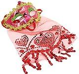 Fiesta de Maquillaje Fiesta Navidad Halloween Danza del Vientre Velo máscara de Dama Código Promedio Rojo
