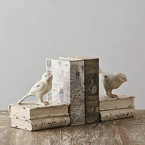 Kaliya Birds Regal ordentlich Buchstützen - Vintage Lagerung Hipster Büro Studie CDs DVDs backen Küche Koch Buch dekorative Buchstützen Geschenke