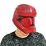 Gankchen Sith Trooper Cosplay Helmet Sith Trooper Mask Latex Costume Helmet Masqurade Red