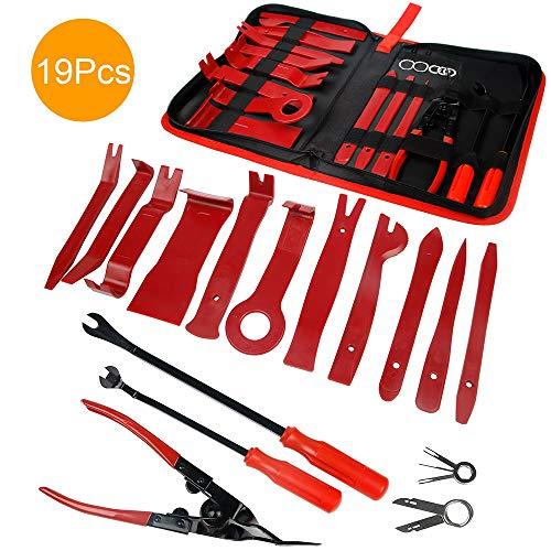 Demontage Werkzeug Auto - STYLINGCAR 19 stück Zierleistenkeile Verkleidungs Werkzeug für Innen-Verkleidung Ausbau, Verschiede Arten von Werkzeug enthältet Starke Nylon