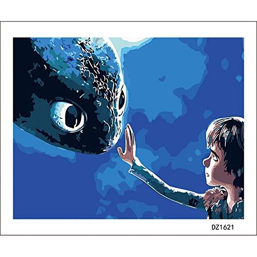 LLXPDZ Malen Nach Zahlen Dragon Master Cartoon Kind DIY Digitale Moderne Wandkunst Leinwand Malerei Einzigartiges Geschenk Wohnkultur 40X50 cm