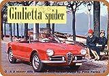 Laptopo 1959 Alfa Romeo Giulietta Spider - Vintage Look 9 x 12 Metal Sign