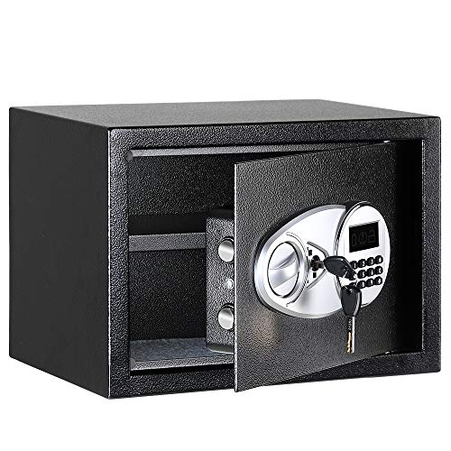 AmazonBasics Steel, Security Safe Lock Box, Black - 0.5 Cubic Feet