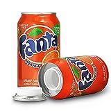 Fanta de naranja de ocultacion + pegatina/Bote de camuflaje/Lata de ocultación imitación refresco (Fanta de naranja)