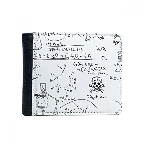 DIYthinker Gift Multi-Function Calculus Chimica Organic Formula illustratie Flip Bifold Faux Leather Wallet