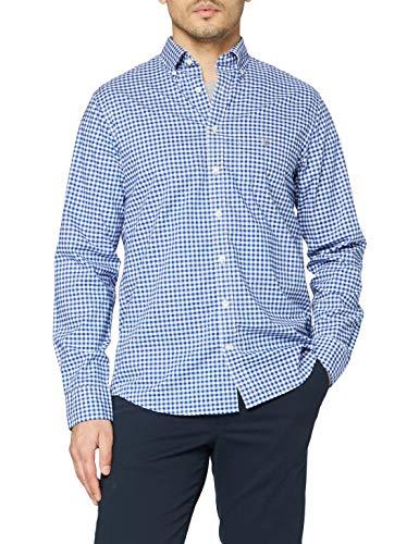 GANT Herren The Broadcloth Gingham Reg Bd Freizeithemd, Blau (College Blue 436), X-Large (Herstellergröße: XL)