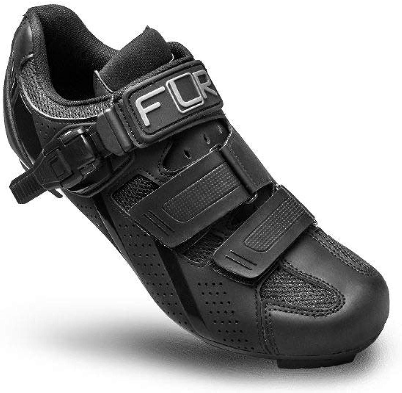 FLR FLR FLR F-15 Herren Rennradschuhe Shimano SPD Fahrradschuhe Klickschuhe schwarz atmungsaktiv Ratschen- Klettverschluss  c427ca