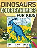 Dinosaurs Color by Number for Kids: Coloring Activity for Ages 4 – 8