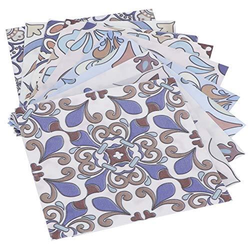 10 pegatinas de pared, autoadhesivas, impermeables, decorativas, pegatinas de transferencia de azulejos de mosaico, baño, cocina, hogar (15 x 15 cm)
