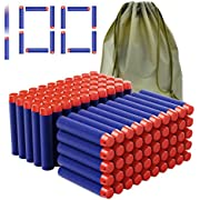 Coodoo Compatible Darts 100 PCS Refill Pack Bullets for Nerf Guns N-Strike Elite Series Blasters Toys for Nerf Party - Blue with Storage Bag