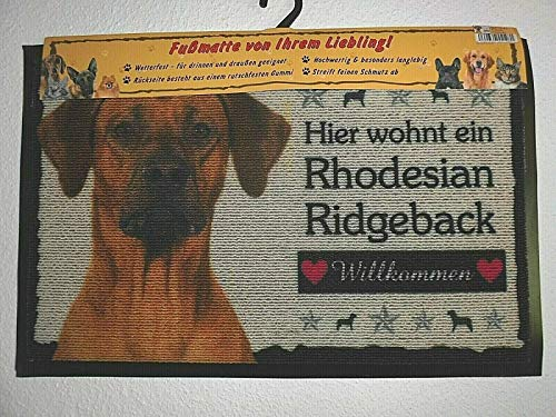 Pfronten Fußmatte Rhodesian Ridgeback (41), Fußabtreter, Türvorleger, Türmatte wetterfest, Hund