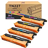 HaloFox Compatible Toner Cartridge Replacement for Brother TN223 TN227 TN-227 for HL-L3210CW HL-L3230CDW HL-L3270CDW HL-L3290CDW MFC-L3710CW MFC-L3750CDW MFC-L3770CDW - 4 Pack