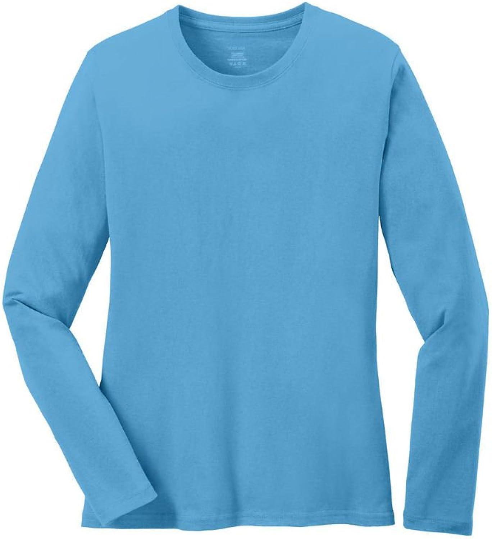 Joe's USA Ladies Long Sleeve 5.4oz 100% Cotton TShirts in 16 colors. XS4XL