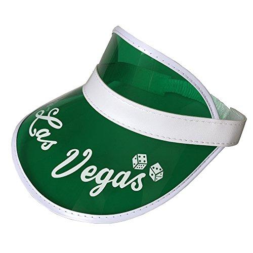 YH Poker Yuanhe Las Vegas Green Dealer Visiere, Kostümhut, Einheitsgröße, erweiterbares Stirnband
