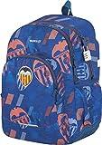 Mochila Valencia CF | Mochila Doble Compartimento Adaptable a Carro para Mochilas Escolares, Bolsillo Frontal y Candado Numérico de Seguridad - Medidas 32 x 44 x 14 cm - Color Azul