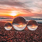 Emart Clear Crystal Ball for Photography Accessory and Photo Props Decoration, K9 Crystal Lens Ball with Microfiber Cloth, Camera Sphere and Photography Orb (3 Pack, 60mm/80mm/100mm)