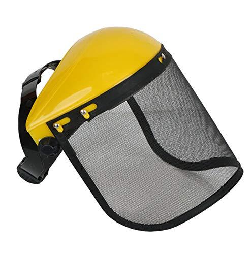 WANJIA Casco Forestal, Casco de Seguridad Profesional para Motosierra, con Visera de protección Facial Casco de Seguridad Sombrero para tala Desbrozadora Protección Forestal,A
