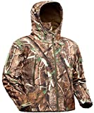 ADAFAZ Hunting Jacket Waterproof Hunting Suit Camouflage Hoodie Windproof Camo Coat for Men Hunting (Camo Tree, US XXL= Tag XXXL)