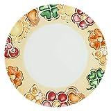 THUN - Piatto Multiuso Decorato con Fiori e Farfalle - Piatto Multiuso in Porcellana per Biscotti, Torte, Dessert e Buffet - Accessori Cucina - Linea Happy - Porcellana - 31,9 cm Ø, 2,2 h cm